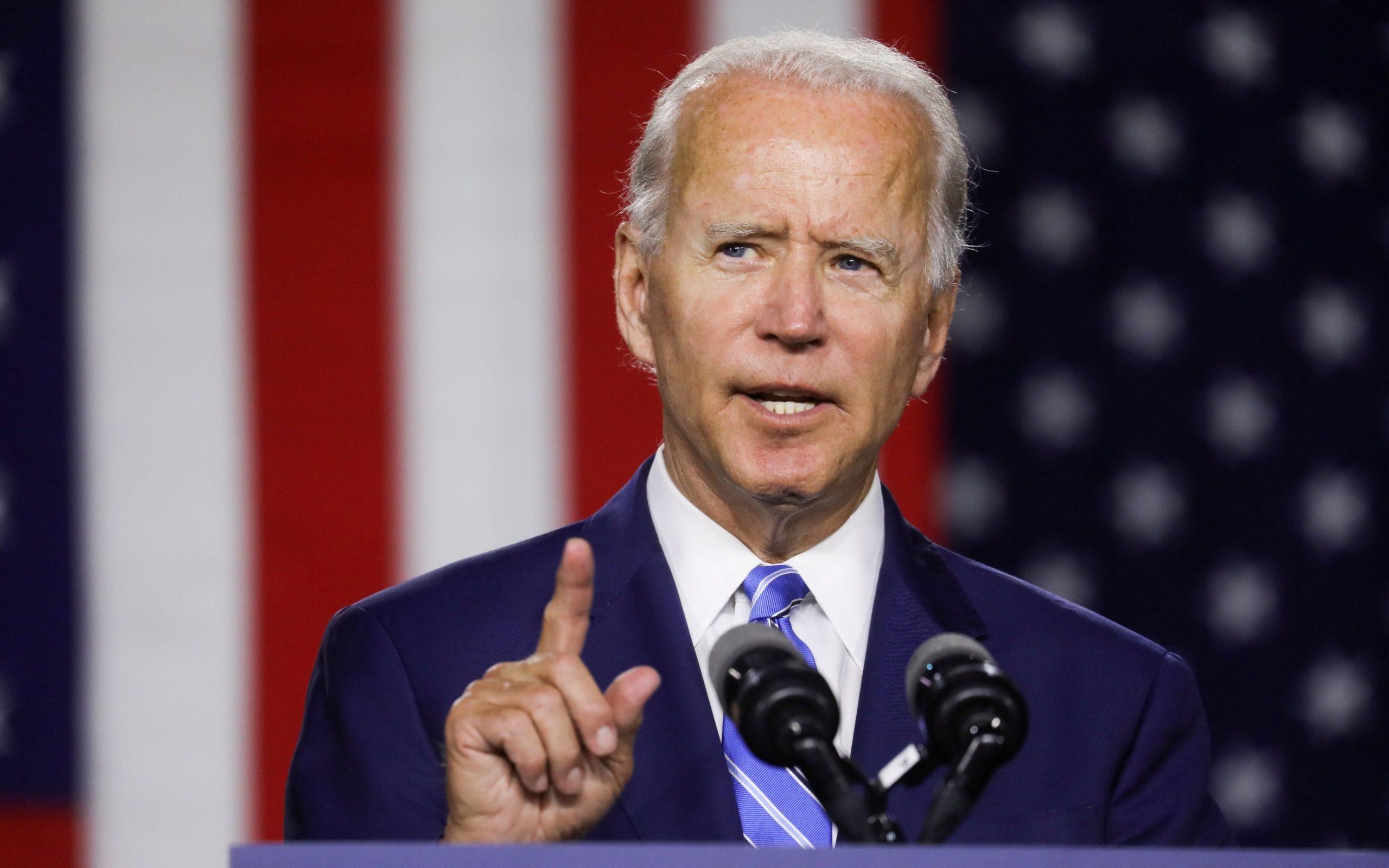 Democratic U.S. presidential candidate Biden