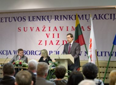 Etnic Polish party in Lithuania (LLRA) and its president W. Tomaszewski
