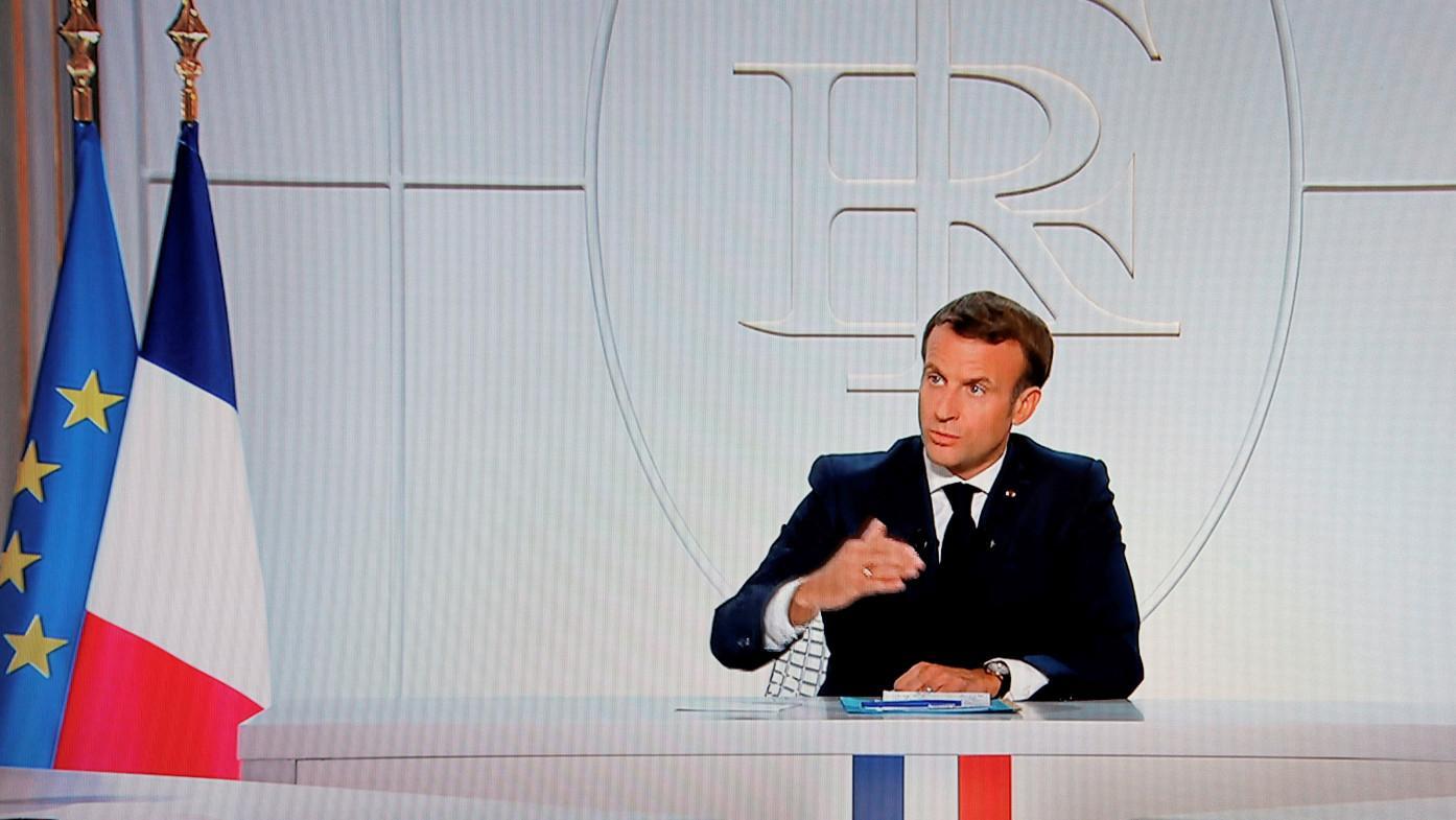 Macron on curfew