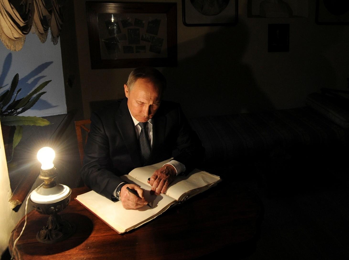 Putin writing