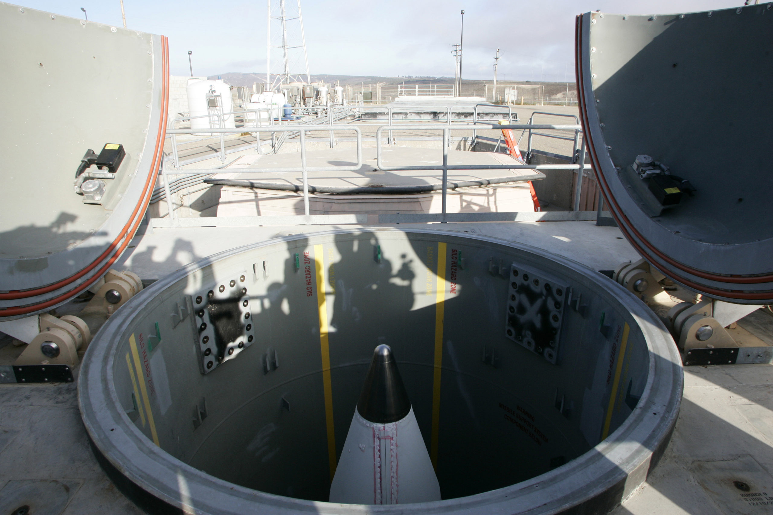 A long-range ground-based missile silo at the Vandenberg Air Force Base in California