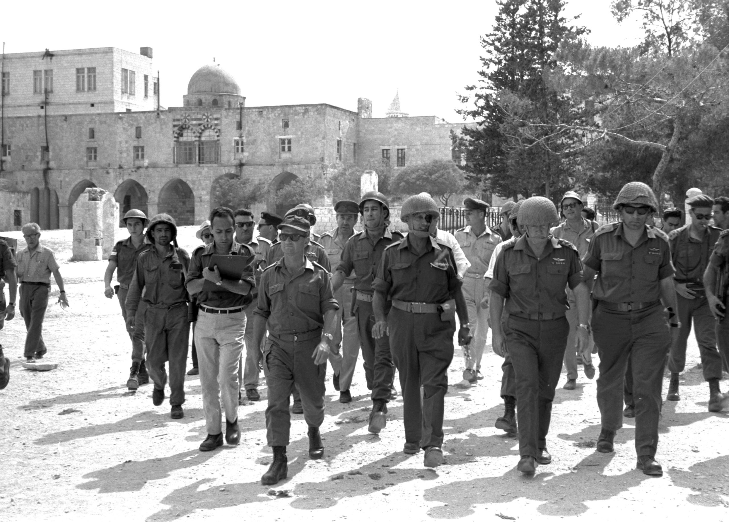 Dayan and Rabin in Jerusalem