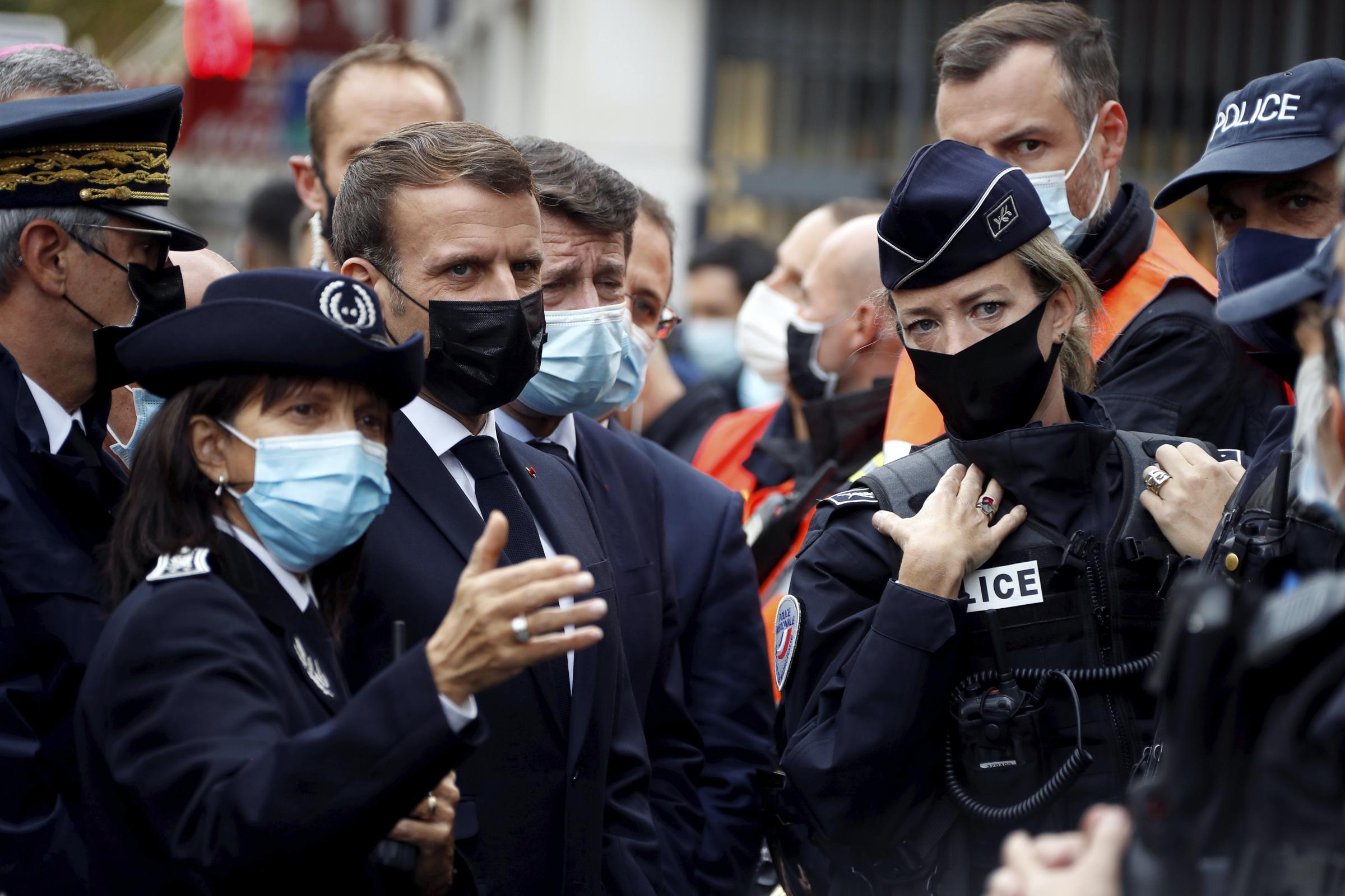 Macron and police