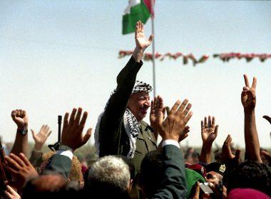 1994, Yasser Arafat. returns to Palestine, 2004 Yasser Arafat's Funeral in Ramallah.