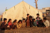 Displaced children in Afghanistan