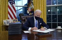 Biden signing documents