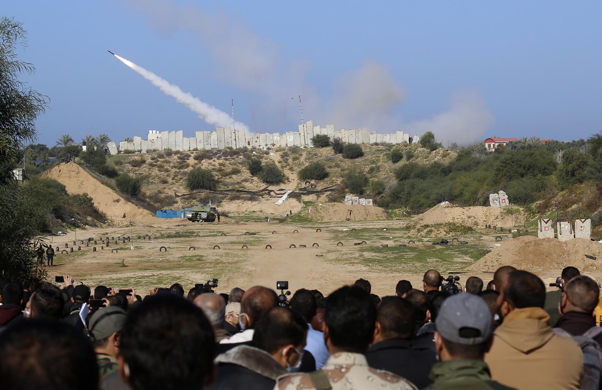Palestinians Gaza Drill