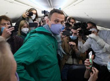 Navalny in airplane