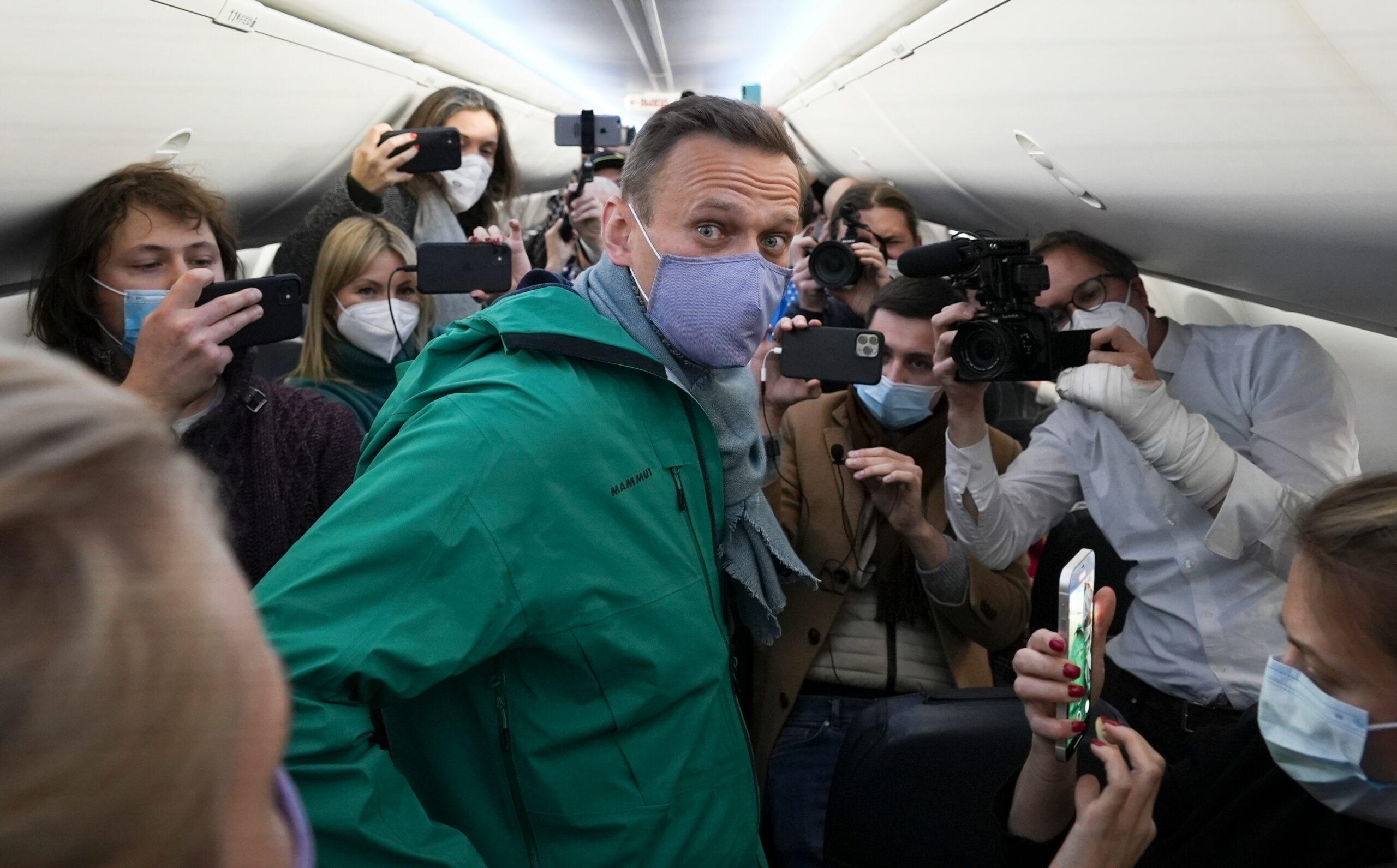 Navalny in airplane