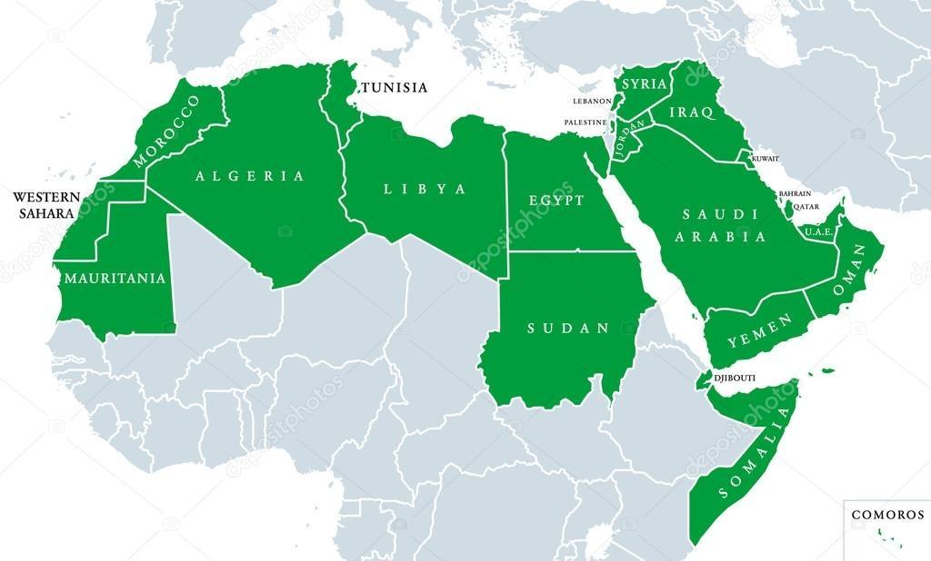Pan-Arabism map