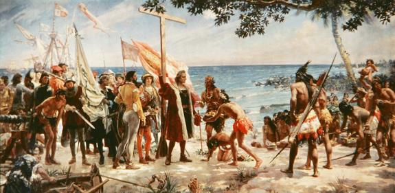 The first voyage of Ch. Columbus in 1492