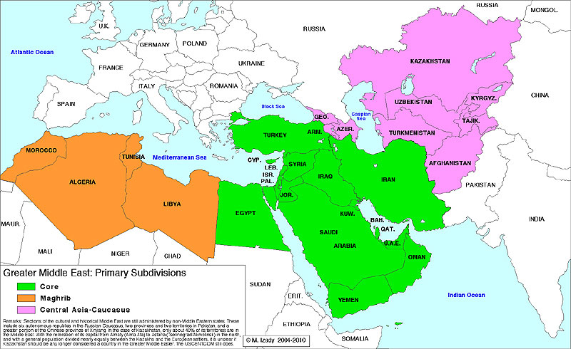 Greater Middle East map