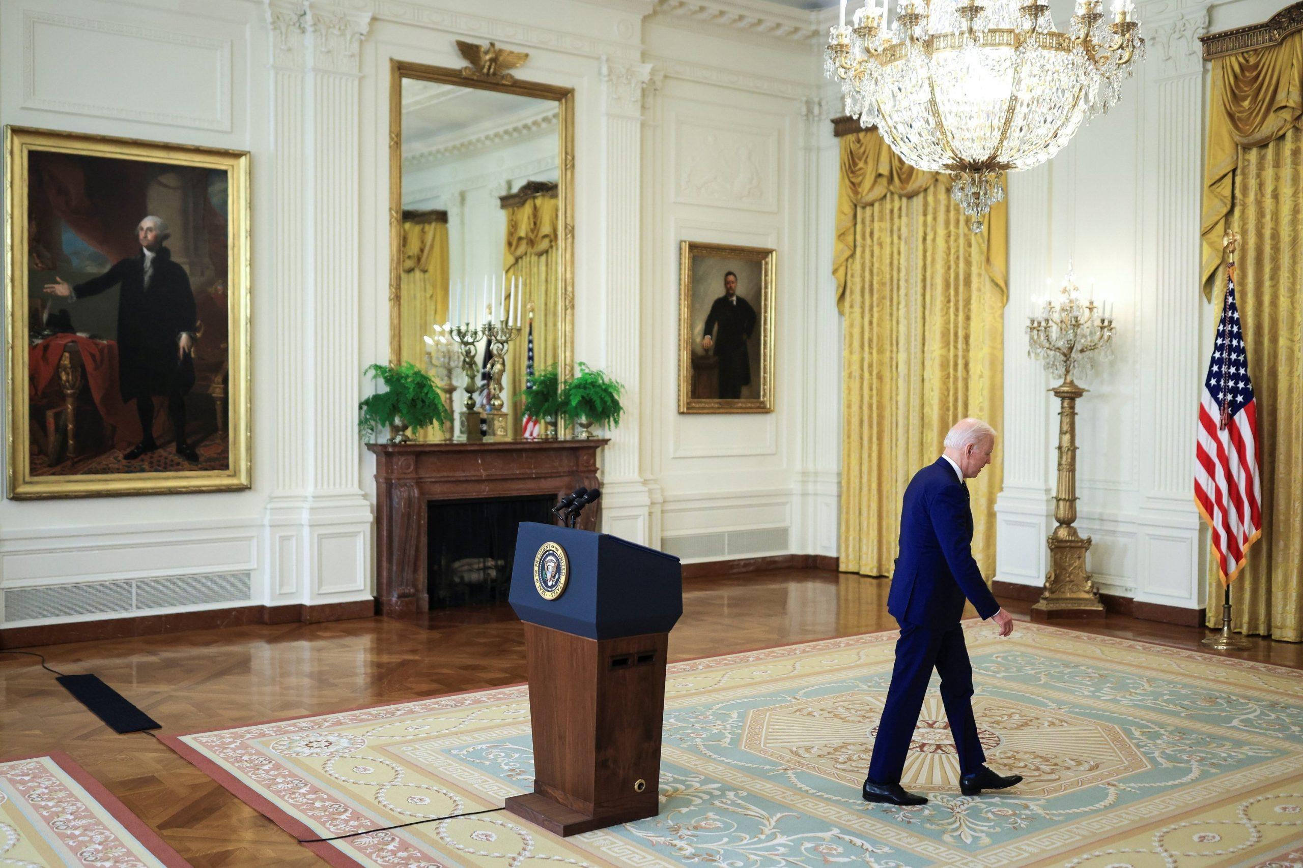 Biden departs