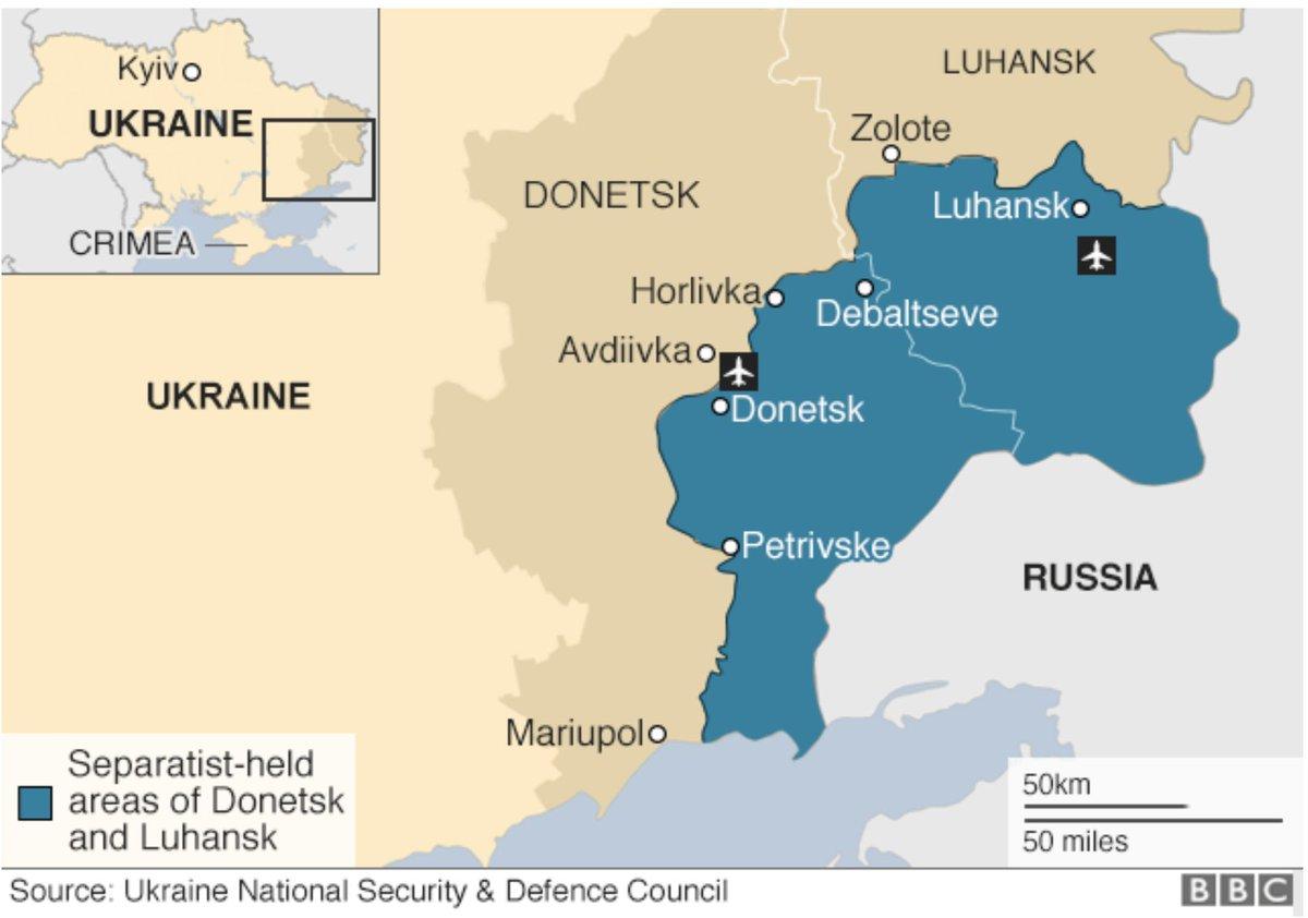 Donetsk area map