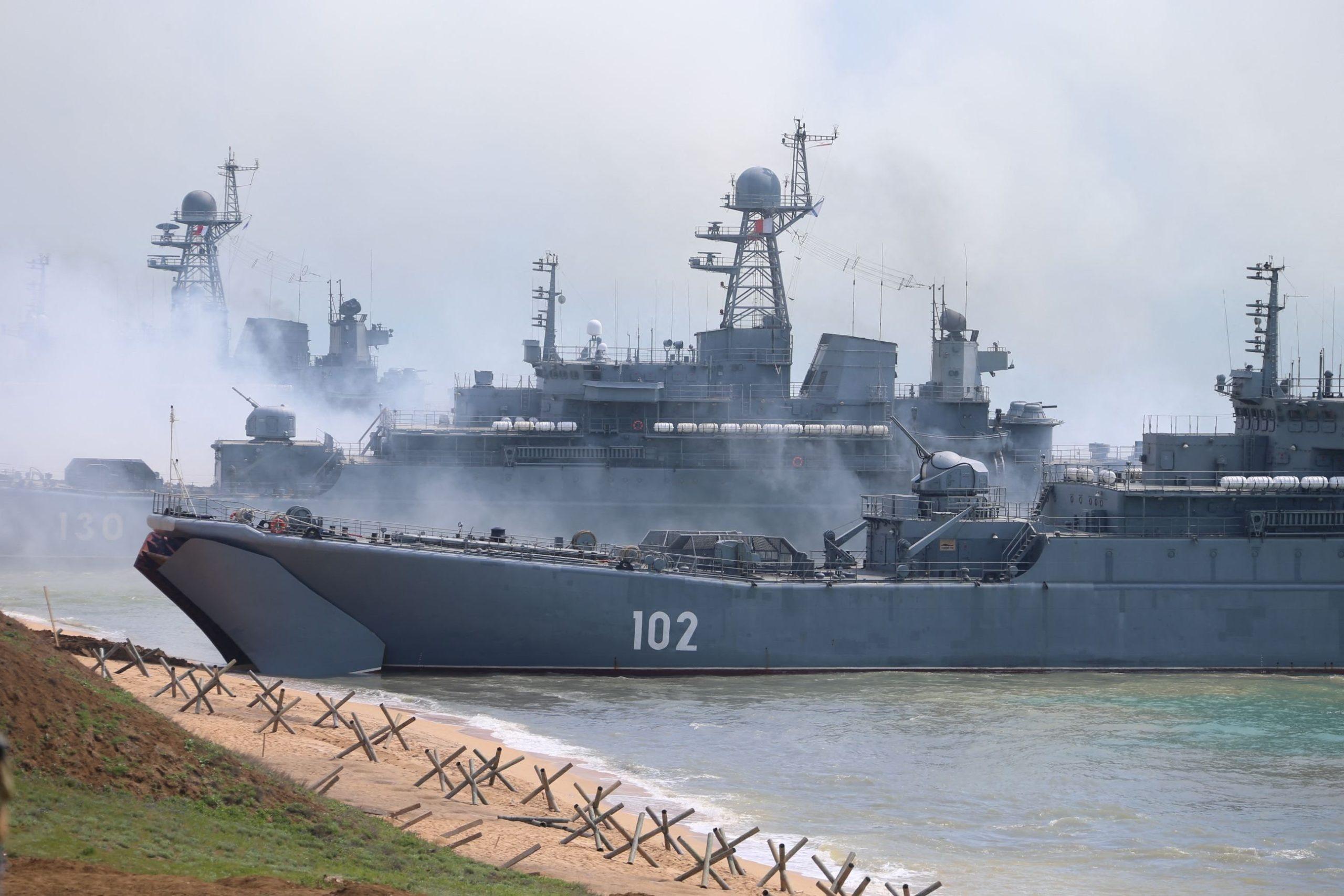 Military drill in Crimea