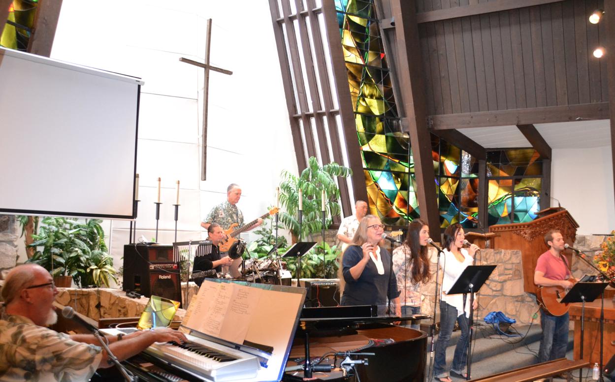 Music band in church