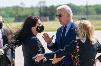 Tlaib confronted Biden