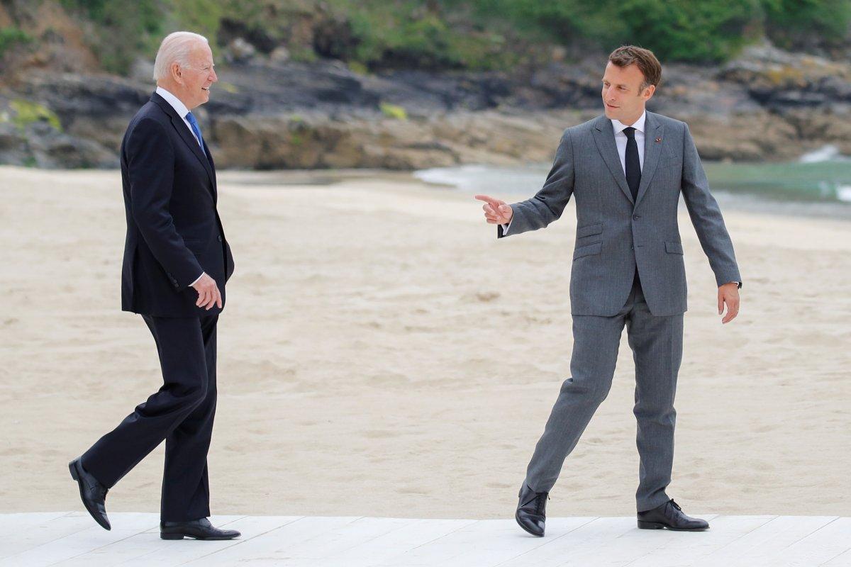 Biden and Macron