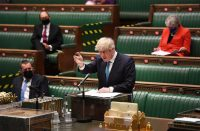 Johnson in the parliament
