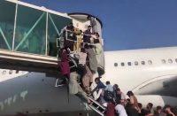 Panic at Kabul airport