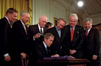 Signing the USA Patriot Act