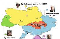 Ukraine historical map