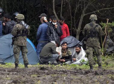 Refugees stuck between Poland and Belarus