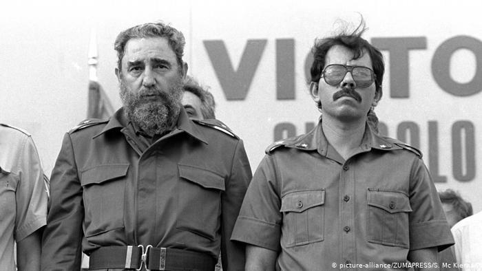 Daniel Ortega and Fidel Castro