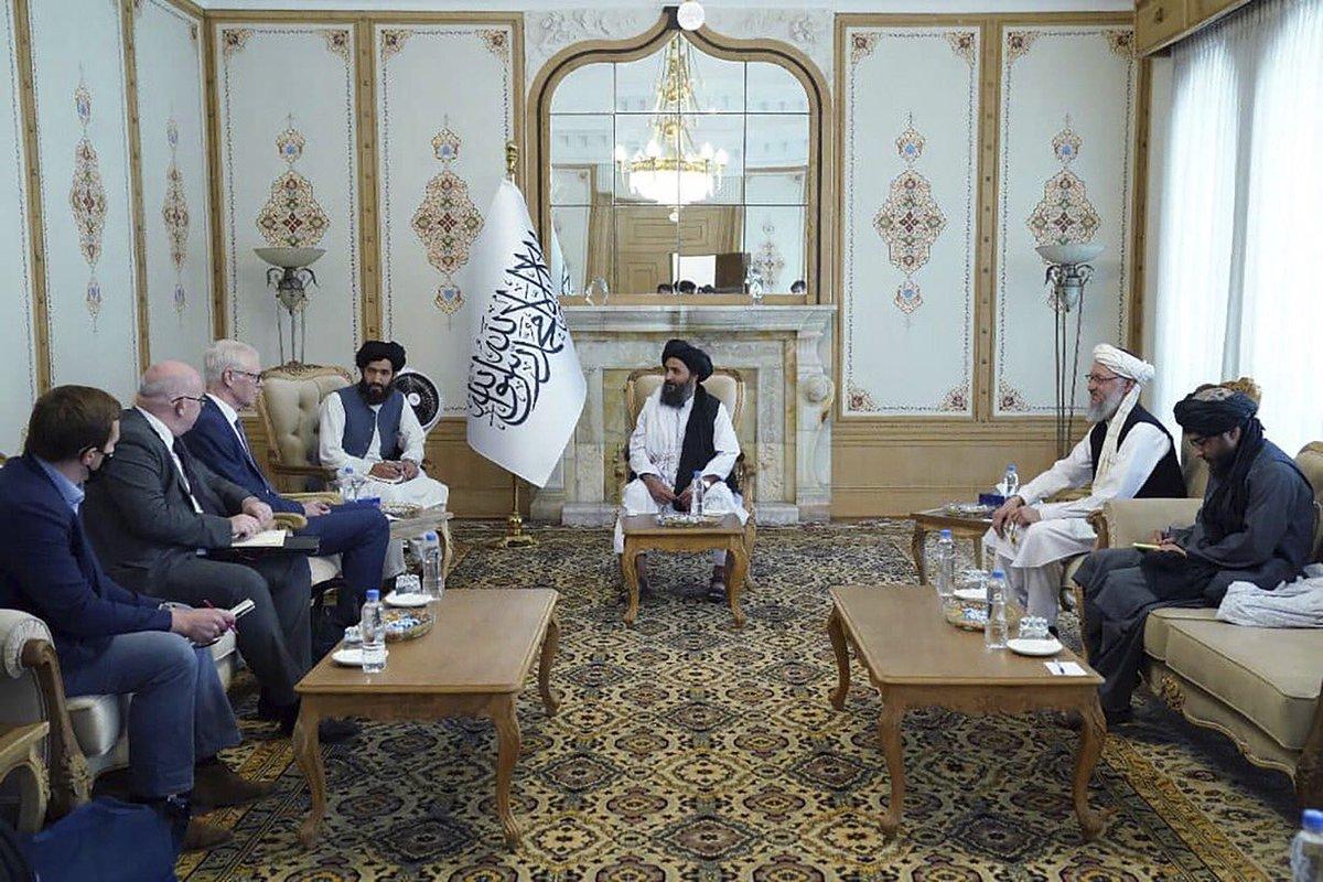 Taliban met British delegation